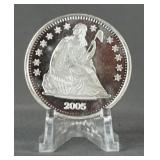 2005 Seated Liberty 1oz. Silver Round