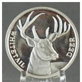Whitetail Deer 1oz. Silver Round