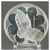 Praying Hands 1oz. Silver Round