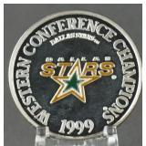 1999 NHL Dallas Stars 1oz. Silver Round