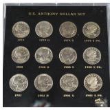1979-1981 Susan B. Anthony Dollar 12pc. Set
