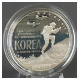 1991 Korean War Memorial Silver Dollar Comm.