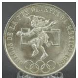 1968 Mexican Silver Olympic 25 Pesos