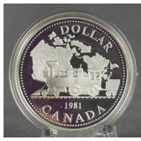 1981 Canada Silver Trans Canada Railway Dollar