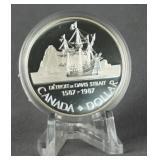 1987 Canada John Davis Silver Dollar