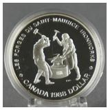 1988 Canada Iron Workers Silver Dollar