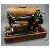 Antique Singer Hand Crank Sewing Machine Model 15K