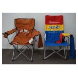 Texas Longhorn and Budweiser Portable Arm Chair