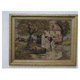Vintage La France Art Company Tapestry