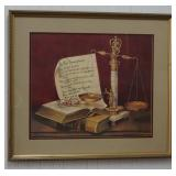 Sandy Lynam Clough Signed Print The Commandments