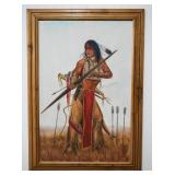 Native American Warrior Oil Painting by M. Neal