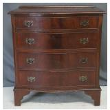 Vintage Mahogany Bow Front Accent Chest