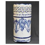 Blue on White Chinese Porcelain Umbrella Stand