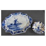 Deft Blue of Holland Vanity Tray and Ashtray
