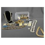 Vintage Assortment Fashion and Costume Jewelry
