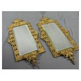 Neoclassical Brass Wall Mirrors