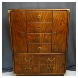 Drexel Accolade MCM Chest on Chest with Cabinet