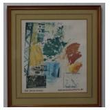 Robert Rauschenberg 1984 ROCI Signed Lithograph