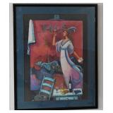 David Adickes Signed Artist Proof Print Tosca