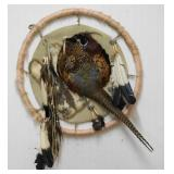 Pheasant Shield Hand Made Southwest Wall Decor