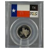 2004-S Texas Silver Quarter PCGS PR 69 DCAM