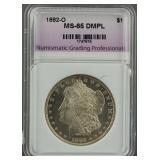 1882-O Morgan Dollar NGP MS 65 DMPL