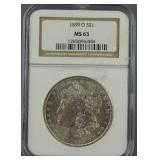 1899-O Morgan Dollar NGC MS 63