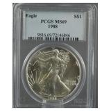 1988 American Silver Eagle PCGS MS 69