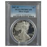 2007-W American Silver Eagle Proof PCGS PR 70 DCAM