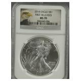 2014 American Silver Eagle NGC MS 70