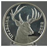 .999 Silver 1oz. Whitetail Deer Round