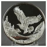 Alaska .999 Silver Proof Eagle in Flight Medallion