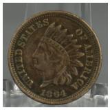 1864 Indian Head Copper Nickel Penny