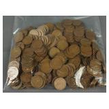 250 Assorted Date Lincoln Wheat Pennies 1909-1958