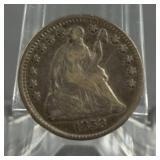 1858 Seated Liberty Silver Half Dime