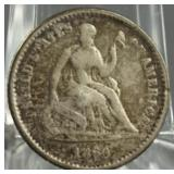 1860-O Seated Liberty Silver Half Dime