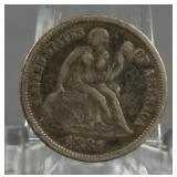 1884 Seated Liberty Dime