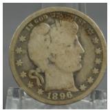 1896-O Barber Quarter Key Date