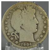 1904-S Barber Half Dollar Key Date