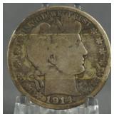 1914 Barber Half Dollar Key Date