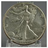 1938-D Walking Liberty Half Dollar Key Date