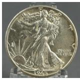 1945-D Walking Liberty BU Half Dollar