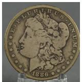 1886-O Morgan Silver Dollar Key Date