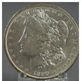 1890 Morgan AU+ Silver Dollar