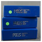 3 PCGS Coin Storage Boxes