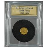 1851 Gold Liberty Head Dollar