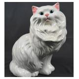 Large 14 inch Vintage Ceramic Cat Figurine