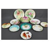 Vintage Handpainted Fine China Plates and Bowl