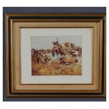 Charles Russell Print A Camp Cooks Trouble