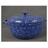 LL Bean Blue Speckled Enamel Cast Iron Dutch Oven